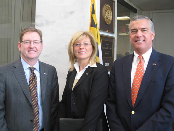BOMA Past Presidents Dave Johnson, Lynn Berger, and Craig Eney on Capitol Hill